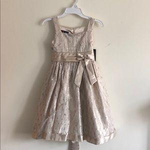 Love Cream Color, Sparkling Children's Dress 8 NWT